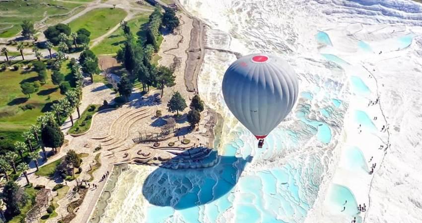 воздушный шар в памуккале